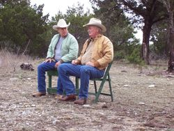 Western Artist Bob Moline & Sonny King. Two good friend visiting me at the ranch.