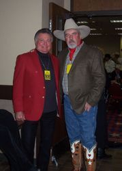 Leroy VanDyke & myself at a show in Ft Worth, Texas.