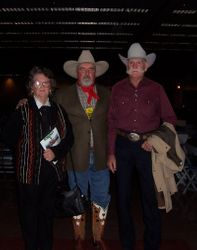 Friends at show in Ft. Worth, Chris Giles Me & Bill Giles.