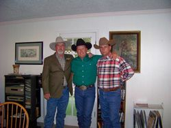 Dad, Chancey and son-in-law Jake Lester