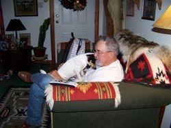 Dad and his friend Pokieboy giving dad a hug