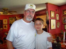 Dad and grandson Tyler Lester. Dad calls him T.R.