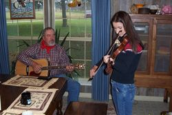 Johnny and daughter Fawn making music for fun.