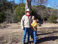 Dad and Mom on their ranch