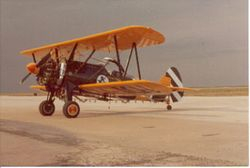 John's first Crop Duster. A WWll Stearman coverted to a Crop Duster.