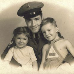 My Dad and his sister Jo Ann with thier Father John Seay, Sr. in 1944