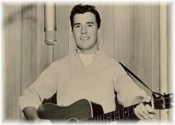 Johnny at age 17 in 1958, first recording session for NRC Records.