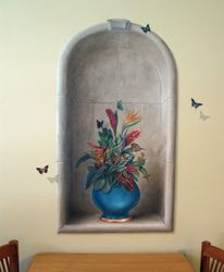 Painted niche