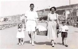 Liz, Alfred, (Margie?), Peggy, Stephen 1950