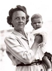 Peggy with Margie ? 1950?