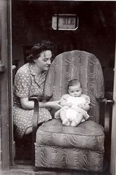 Peggy with Stephen 1945