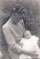 Liz's Christening - Rachel with Liz