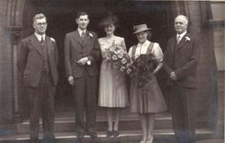 Alfred and Peggy Wedding 1942