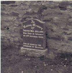 Trevor's grave at Halkirk