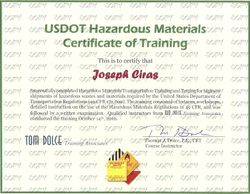 Hazardous Materials Transportations Training