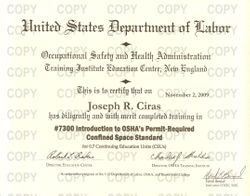 7300 - Introduction to OSHAs Permit-Required Confined Space