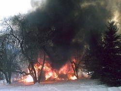 Shop Burning Down