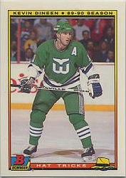 1990-91 Bowman Tiffany Hat Tricks #7