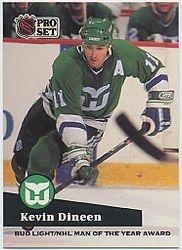 1991-92 Pro Set NHL Sponsor Awards #AC17