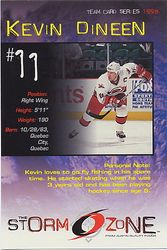 1998-99 Hurricanes Team Issue Storm Zone #NNO