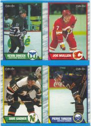 1989-90 O-Pee-Chee Box Bottom Complete Panel