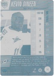 1997-98 Pacific Dynagon Back Plate