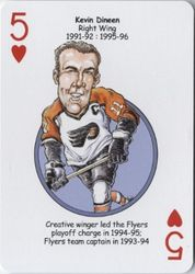 2010 Philadelphia Flyers Heroes Playing Cards