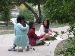 (left to right) Sophia, Sofia, and Andrea