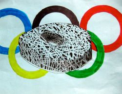 "Eric Li, age 10, ""Olympic Bird's Nest Stadium in Beijing"""