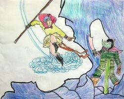 "Evelyn Dai, age 7, ""Su Wukong the Monkey King"""