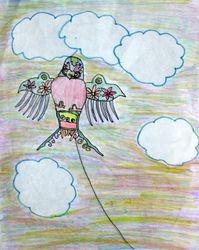 """Leah Wang, age 7, """"Swallow Kite"""""""