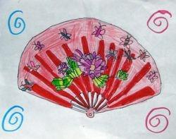 """Tori Xiao, age 6, """"Chinese Fan"""""""