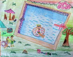 Sophia Zhang, age 7, 4th place, younger group