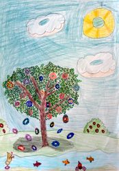 Sanjana Aslesh, age 7, 2nd place (tie), younger group