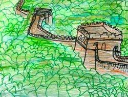 Eric Li, age 8, Great Wall of China