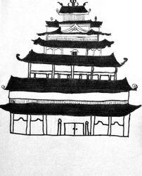 Jeffrey Liu, age 8, Pagoda