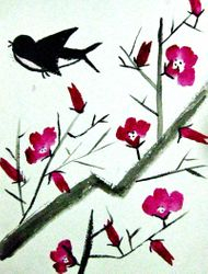Emma Schoen, age 10, Chinese Style Watercolor Painting