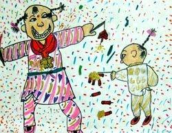 Jonathan Xu, age 7, Celebrating New Year with Firecrackers
