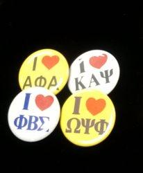 I Love  Frat Pins