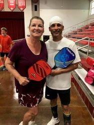 Nannette Lewis and Andy Flores