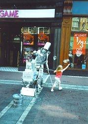 Busker on Grafton Street