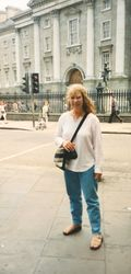 Laura in front of Trinity College