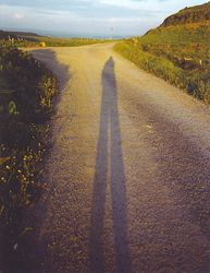 My shadow in Co. Clare
