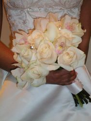 Ivory Orchids, Ivory Calla Lillies and Ivory Roses