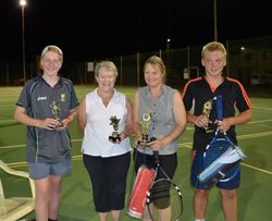 Mitch and Elaine (Runners Up) with Winners, Margy and Matt