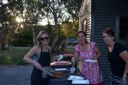 The Traditional Ladies showed us how to cook a BBQ