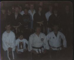 Sensei Keating and Sensei McCormacK with a class.
