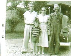 Rufus, Vera and Danny Marcengill with Vera's Father
