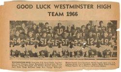 Westminster High Football Team