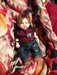 Daryl Dixon inspired reborn doll